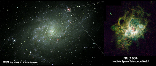 M33+NGC604