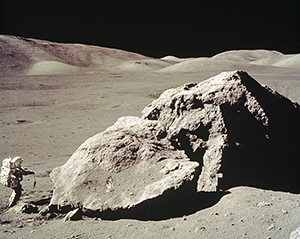 Apollo mission photograph from the surface of the Moon