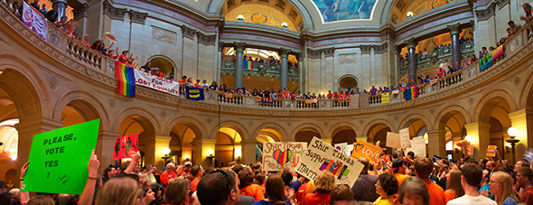 Marriage Demonstration at Minnesota State Capitol